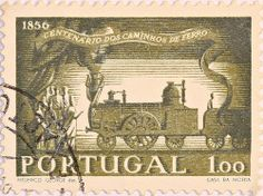 Portugal Rail Transport, Rare Stamps, Azores, Stamp Collecting, Locomotive, Postage Stamps, Vintage World Maps, Art Photography, Poster