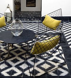 bold. Handmade tiles can be colour coordianated and customized re. shape, texture, pattern, etc. by ceramic design studios