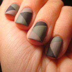 33 Matte Nail Art Designs for Girls Cute Nail Art Designs, Creative Nail Designs, Creative Nails, Camo Nail Designs, Army Nails, Military Nails, Chloe Nails, Camouflage Nails, Nail Mania