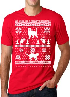 Cat Ladies rejoyce for unto you a new cat lady Christmas sweater is born on this day! #funny #christmas #uglysweater #awesome