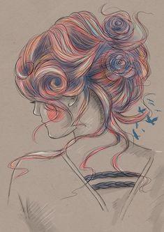 Raving Lunatic - martinekenblog:Beautiful drawings by Chelsea...