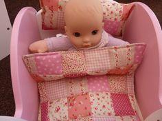 Dolls Cot Bedding Set. 3 or 4 Piece. Quilt/Comforter - Pillow ... : dolls pram quilt sets - Adamdwight.com