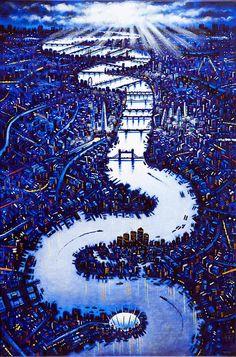 Catto Gallery | John Duffin Solo exhibition 2016 | Thames London II