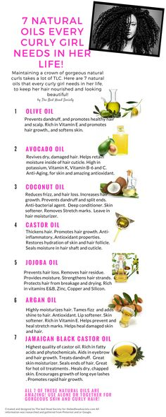 7 Natural Oils Every Curly Girl Needs In Her Life