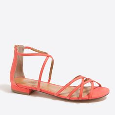 J.Crew - Strappy sandals in suede