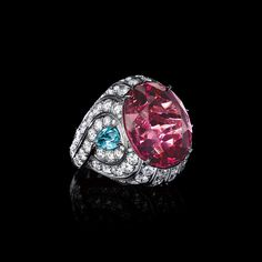 Pink Spinel Wave Ring
