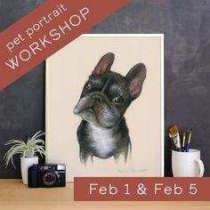 Learn To Draw A Pet Portrait in Pastels with Artist Eleanor Rhinehart - Wednesday 2/5/20 6-9