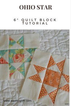 http://www.aquiltinglife.com/2015/06/summer-patchwork-sampler-quilt-ohio-star.html
