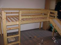 height a bed | ... together today it is pretty cool it is a half height loft with a slide