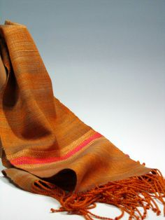 Handwoven Silk and Wool Scarf Bollywood by mmhaber