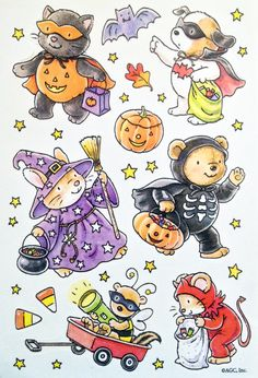Vintage Halloween Cuties Sticker Sheet By AGC