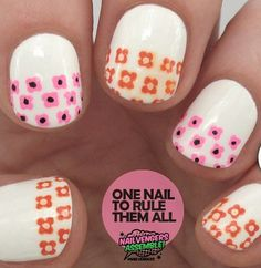 Flower tip nails