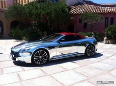 Chrome Aston Martin DBS. The only place you could drive it would be England or Seattle,where the sun doesn't shine!