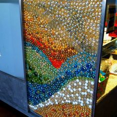 Beautiful Wall art. Flat marbles....: