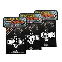 San Francisco Giants MLB 2014 World Series Champs LowGo-Rider Team Logo Accessory 3 Pack