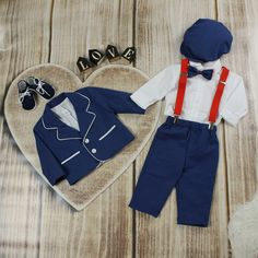Special Occasion Boys Blue Suit – BabyUniqueCorn