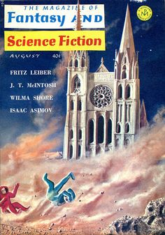 scificovers:  The Magazine of Fantasy and Science Fiction August 1964. Cover by James Roth.