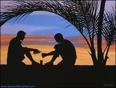 gallerysunsetsilhouette Canadian Painters, Sunset Silhouette, Walker Art, Political Art, Art For Art Sake, Gay Art, Man In Love, Sculpture Art, Art Gallery