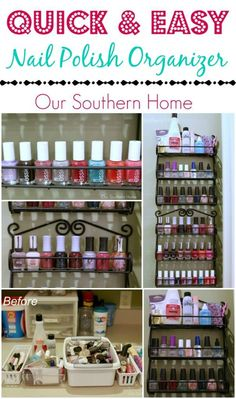 Love this nail polish storage solution...perfect!   http://www.oursouthernhomesc.com