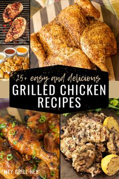 Ah, Grilled Chicken. It's the perfect meat for lunch, dinner, and anytime you need a tasty entree. This post is jam-packed with all of my unique and flavorful grilled chicken recipes all in one place to help take the guesswork out of dinner prep this week. Healthy Grilled Chicken Recipes, Sweet And Spicy Chicken, Grilled Chicken Sandwiches, Marinated Grilled Chicken, Grilled Chicken Salad, Honey Garlic Chicken, Spatchcock Chicken, Healthy Grilling, Grilling Recipes