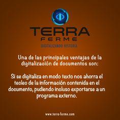 Ventajas de la Digitalización Yo soy #TerraFerme www.terra-ferme.com