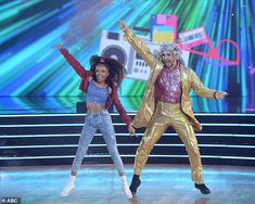 Teen talent:Skai Jackson, 18, and Alan Bersten, 26, also got 24 points for their jazz dance to The Power Of Love by Huey Lewis and the News