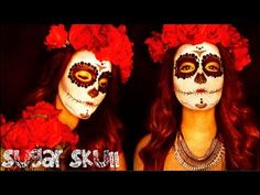 Sugar Skull Makeup Tutorial | Halloween #dayofthedead
