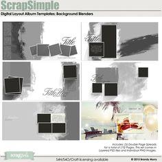 ScrapSimple Digital Layout Album Templates: Background Blenders