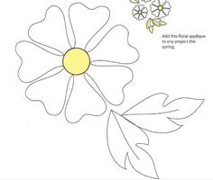 Image detail for -Free download: Flower applique pattern · Quilting | CraftGossip.com
