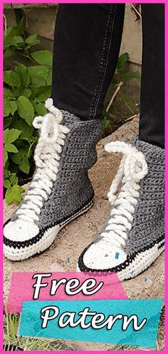 Slippers Crochet Free Pattern All Star Converse Easy #crochet #crochetpatterns #freepattern #crocheting Crochet Stitches, Crochet Hooks, Free Crochet, Knit Crochet, Crochet Patterns, Easy Crochet, Crochet Ideas, Galaxy Converse, Kids Converse