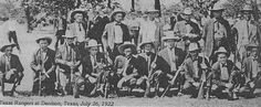 Texas Rangers at Denison,Texas July 26 .1922. They are holding Winchester 1895 sporting rifles and saddle ring carbines as well as 1894 carbines and Thompson Submachine gun.