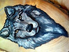 Painting on wood :) howl ;D