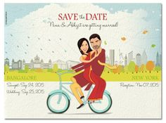 Looking for a delightful way of sending unique a personalized wedding invitation? Go the caricature way! Marriage Invitation Templates, Engagement Invitation Cards, Personalized Invitations, Personalized Wedding, Invitation Ideas, Invitation Design, Invites, Wedding Card Design, Wedding Cards