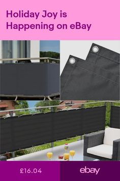 Privacy Screens Windscreens Garden & Patio #ebay Patio Privacy Screen, Privacy Screens, Balcony Deck, Outdoor Furniture, Outdoor Decor, Gardens, Shades, Storage, Ebay