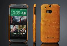 Luxury Genuine Leather Case For HTC One M8  Card Slot Cover