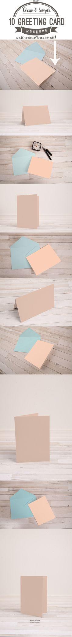 10 A7 (5x7) Greeting Card Mockups - Product Mockups - 2
