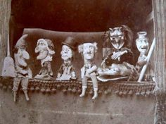 Vintage photograph of Punch and Judy curtain call.