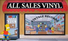 VINTAGE RECORDS spotted on THE SIMPSONS !