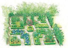 How to create a cottage garden # raised garden beds Crossroads cottage garden drawing Building Raised Garden Beds, Outdoor Steps, Garden Drawing, Sloped Garden, Home Vegetable Garden, Edible Garden, Garden Planning, Garden Inspiration, Planting Flowers