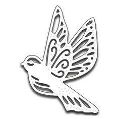 Your papercrafting projects will look enchanting when you use the Flight of Fancy Creative Die by Penny Black. Easily cut through materials such as paper, Penny Black, Kirigami, Stencil Art, Stencils, Diy Arts And Crafts, Paper Crafts, Decorative Metal Screen, Stained Glass Birds, Wooden Christmas Ornaments