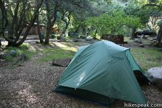 Camping in Sequoia and Kings Canyon National Parks: information and mapped locations of the fourteen campgrounds in Sequoia and Kings Canyon National Parks