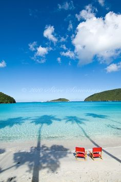 Maho Beach, St. John  Absolutely gorgeous, private and quiet.  Want to go back!
