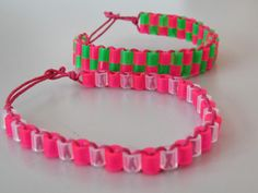 Kässää Mankolassa: rannekoruja hamahelmistä Easy Crafts For Kids, Diy And Crafts, Arts And Crafts, Paper Crafts, Beaded Jewelry Patterns, Beading Patterns, Bracelet Crafts, Beaded Bracelets, Straw Crafts