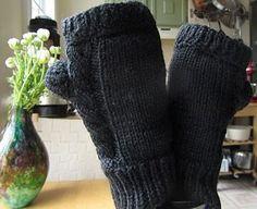 Midnight Magic Knit Fingerless Gloves