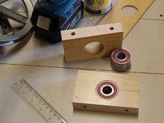 Bearing Blocks by John Heisz -- Homemade bearing blocks constructed from lumber and bearings. http://www.homemadetools.net/homemade-bearing-blocks