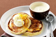 'Batter' take note – pancake awesomeness is here! Egg Free Recipes, Crepe Recipes, Waffle Recipes, Sweet Recipes, Baking Recipes, Snack Recipes, Pancake Recipes, Copycat Recipes, Queso Ricotta