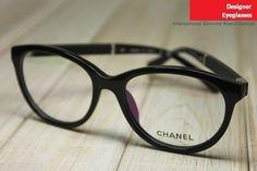 Chanel 3229-Q Retro Round-rim Near-sighted Eyeglasses Frame Black