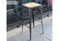 Fusta i Ferro -Taburete de forja Md. Atocha