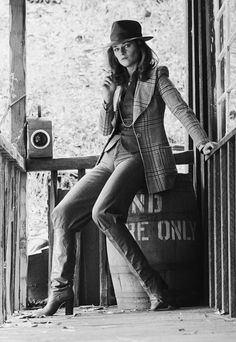 This 1976 photo of Charlotte Rampling inspired one of Tory's earliest collections. It still looks fresh and her tweeds feel right for Pre-Fall 2015's English spirit. Credit: Getty Images, Photo by: Terry O'neill