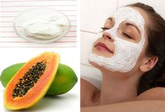 Papaya Greek Yogurt Face Mask for Make Skin Glow And Soft At Home Yogurt Face Mask, Homemade Face Pack, Home Health, Health And Beauty Tips, Glowing Skin, How To Stay Healthy, Skin Care Tips, Sensitive Skin